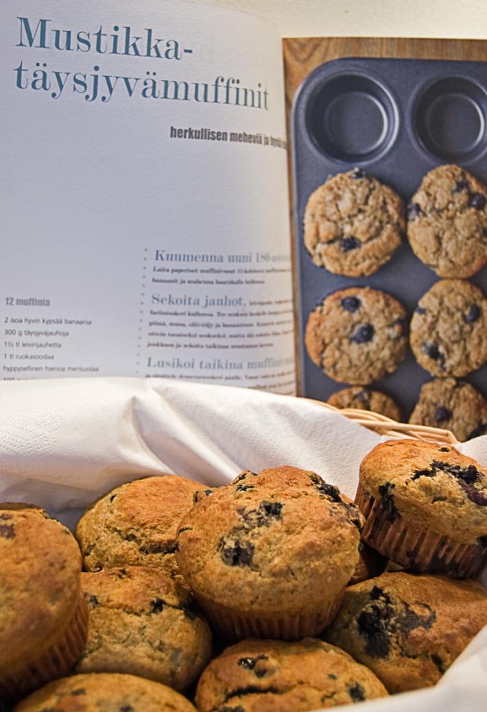 mustikka-muffinssit